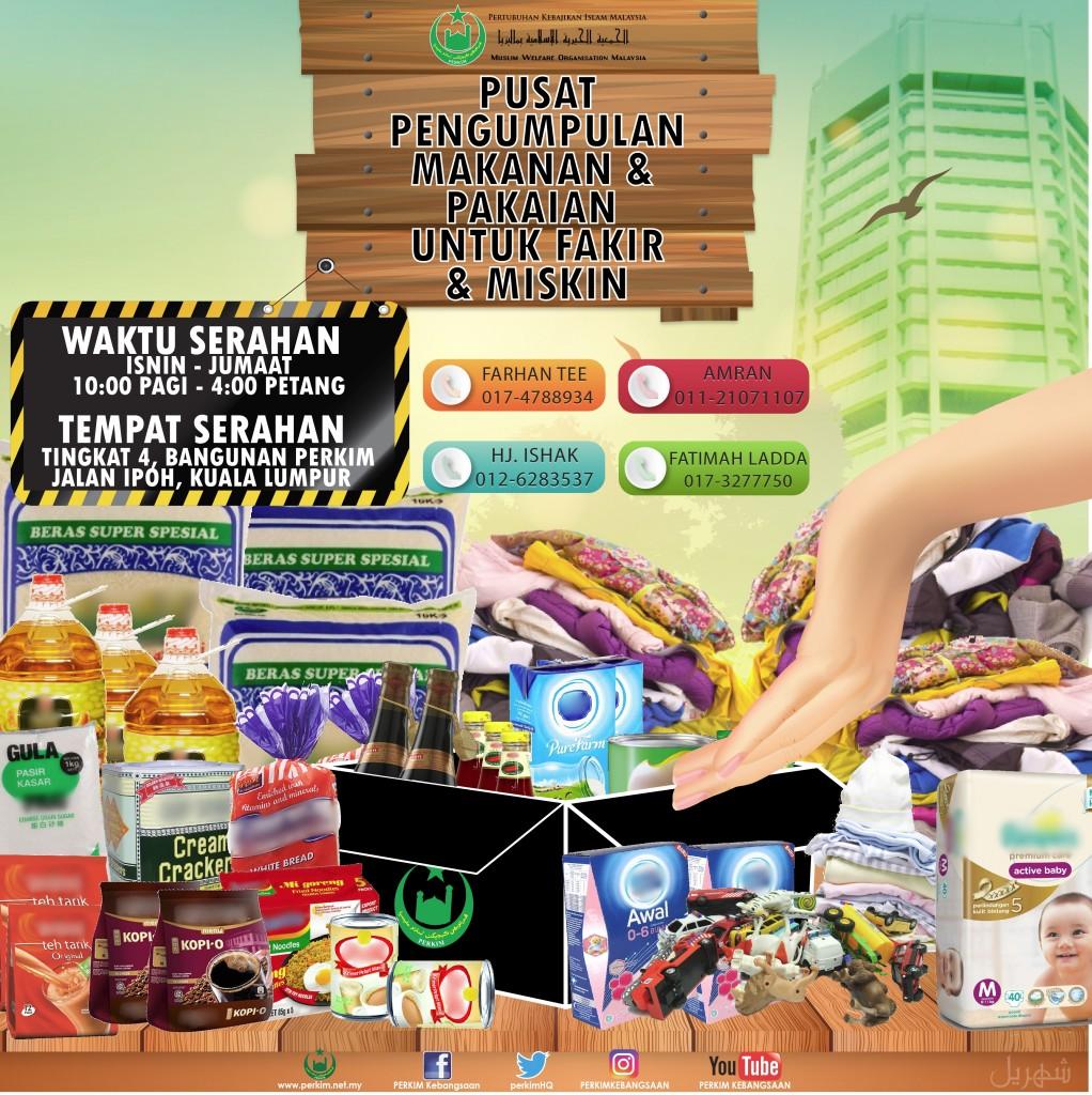 Pusat Pengumpulan Makanan & Pakaian Utk Fakir Miskin
