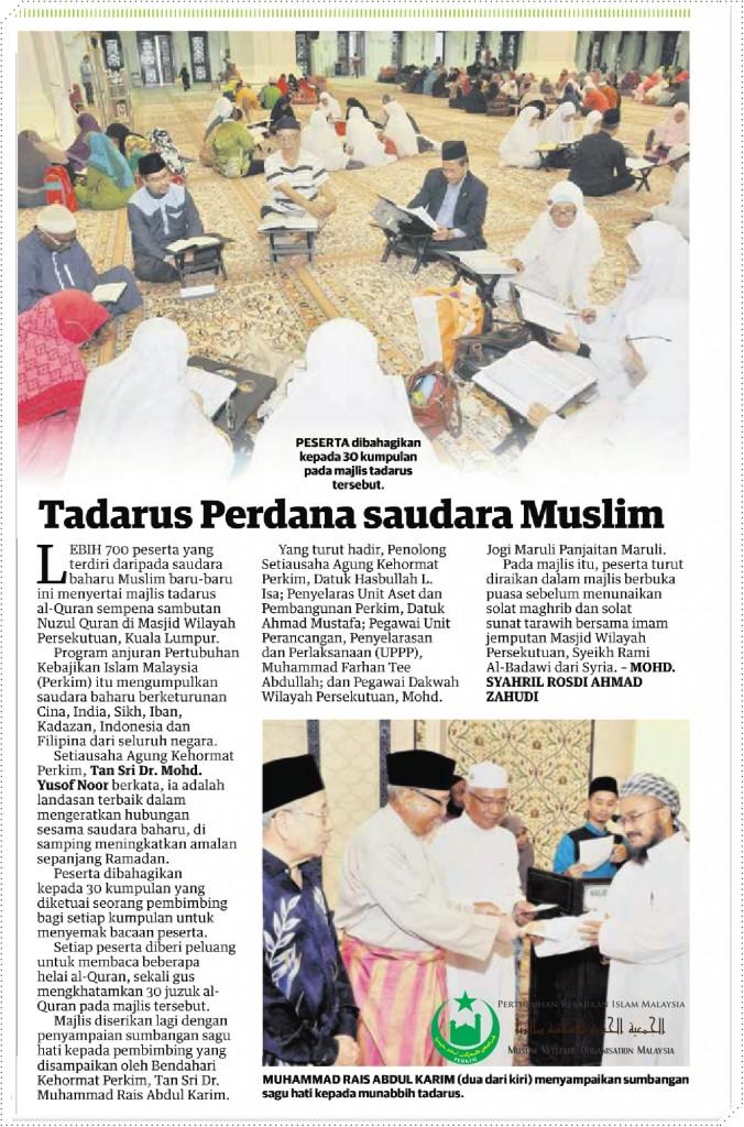 Tadarus Perdana Saudara Muslims