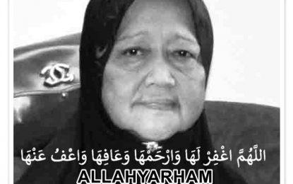 Al-Fatihah : Allahyarham Puan Faridah Abdul Hamid