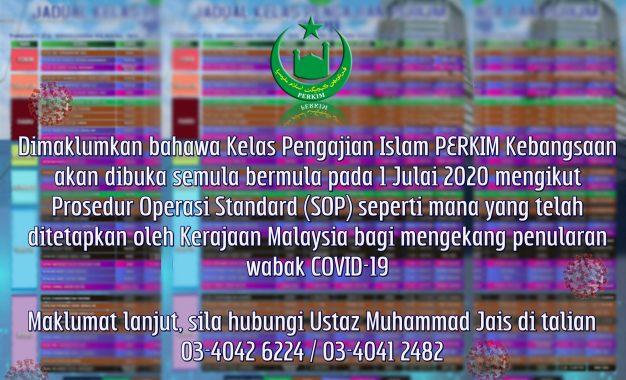 Kelas Pengajian Islam PERKIM 2020 dibuka semula