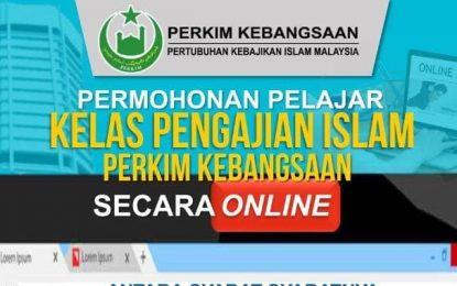 Permohonan Pelajar Kelas Pengajian Islam PERKIM Kebangsaan Secara Online